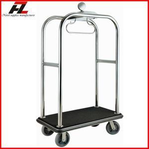 China Brushed Finished Luxury Hotel Baggage Bellman Cart/Hotel Luggage Cart on sale