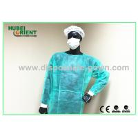 Polypropylene Disposable Isolation Gowns Long Sleeve Durable Manufactures