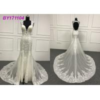 Wholesale Beading Embroidery Appliques Mermaid Style Wedding Dress For Tall Ladies 80cm Tail from china suppliers