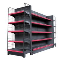 Wholesale Double Side Supermarket Display Shelving Cold Rolled Steel Material White Color from china suppliers
