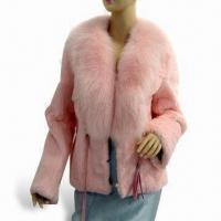 China Women's Rabbit and Fox Fur Winter Coat, Available in Pink, Customized Colors are Welcome on sale