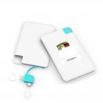 Buy cheap ABS 5V1A 2500mah 4000mah Credit Card Power Bank from wholesalers