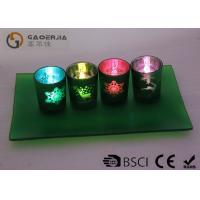 Set Of 4 Decorative Tea Light Holders , Decorative Votive Candle Holders