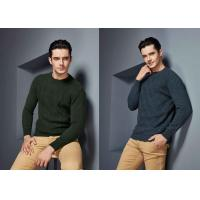 Buy cheap Round Neck Cable Knitted Made To Measure Sweaters Cashmere Knitwear S ~ 4XL For Men from wholesalers