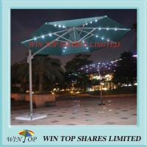 3.0m Solar Light Garden Umbrella for Outdoor and Patio Manufactures