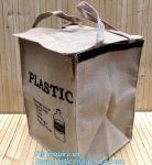 Buy cheap Lightweight collapsible jute fabric storage bin basket,Jute multifunctional moisture-proof debris storage basket desktop from wholesalers