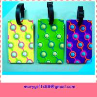Buy cheap custom soft rubber PVC luggage tag from wholesalers