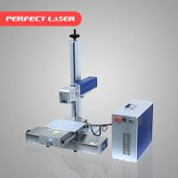 10W 30W 60W Fiber Laser Marker Machine 0.5mm Marking Depth For Plastic / Jewelry Manufactures