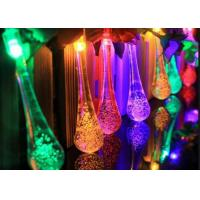 Buy cheap Water Drop Solar LED String Lights Icicle Lighting Auto Light Up In Dark from wholesalers