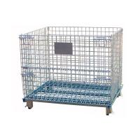 Wholesale Stackable wire mesh storage containers cages used for warehouse from china suppliers