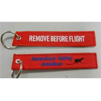 American Valley Aviation Remove Before Flight Custom Embroidery Keychains Manufactures