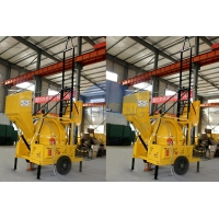 Wholesale JZR350 Mobile Diesel Powered Supply Concrete Mixer With Hydraulic Hopper Lifting Ladder from china suppliers
