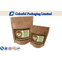 Kraft Paper Foil Lined Stand Up Zipper Laminated Pouch For Coffee Powder Packing Manufactures