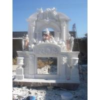 Buy cheap Large marble fireplace mantel from wholesalers