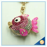 Buy cheap Hot Metal Fish Shape Bag Decoration Charm Keychain Innovative Key Chain For The Key from wholesalers