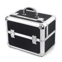 Wholesale Makeup Storage Box Black Women PVC Cosmetic Case / Aluminum Cosmetic Case 500pcs from china suppliers