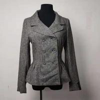 Buy cheap Slim Women's Casual Blazers , Turn Down Double - Breasted Gray Wool Peacoat from wholesalers