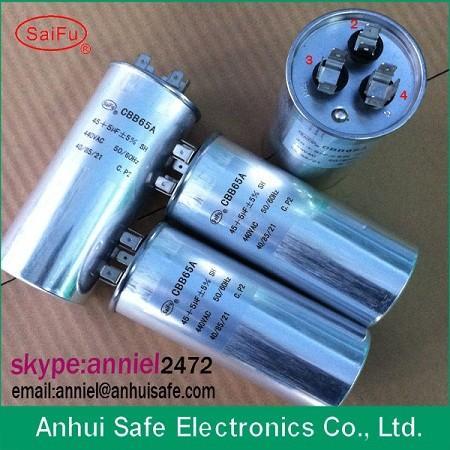 Quality cbb65 capacitor 60 MFD X 370 Volts Round A/C Compressor 8uf 10uf 12uf 250V 450V manufacturer for sale