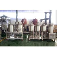 Pilot Brewing System Mini Nano Brewery Equipment With Pu / Rockwool Insulation