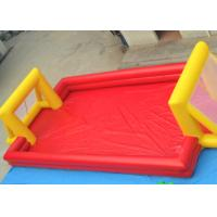 Quality Red Outdoor Football Playground Inflatable Sports Games For Kids for sale