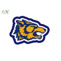 Buy cheap Custom Wolf Head Shaped Towel Patches Laser Cut Sew-on Wolf Chenille Patch For Clothes from wholesalers