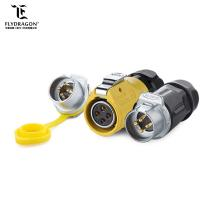 China LP20 4pin Power Circular Connector Audio Male Female Easy Locking Waterproof IP65/IP67 for LED Equipment on sale