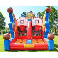 Buy cheap Shooting Stars Basketball Inflatable Target Bounce House Interactive Sports Structure from wholesalers