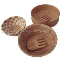 Buy cheap Bamboo Salad Bowls Server Sets (TZW3401) from wholesalers