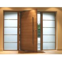 Wholesale Fix Glass Two Sides Pivot Entrance Door Max Width 1100mm E1 Medium Desity Fibreboard from china suppliers