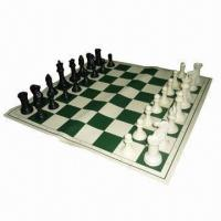 Buy cheap Tournament Chess Set with 4 inches King and Vinyl Board with Canvas Loop Tote from wholesalers