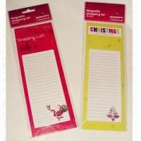 Buy cheap Magnet List Pads with Header Card, Measures 10.3x20.7cm from wholesalers