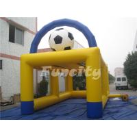 Buy cheap 6mL*3mW PVC Tarpaulin Inflatable Sport Games , Inflatable Football Soccer Kick Games from wholesalers