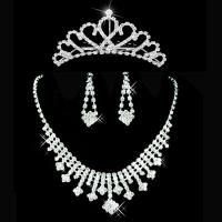 Buy cheap Bride Jewelry Necklace Earrings Crown from wholesalers