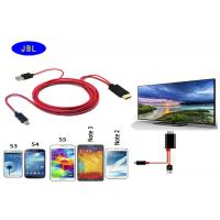 Buy cheap MHL Micro USB to HDMI 1080P Adapter cable for Samsung Galaxy S2S3S4S5 Note 2 3 from wholesalers