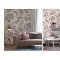 China Art  Flowers Designs  Non-woven Waterproof PVC Wallpaper For Bedroom on sale