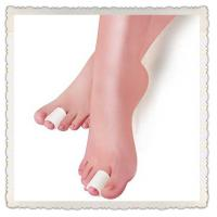 Buy cheap soft polymer silicone white gel toe caps from wholesalers
