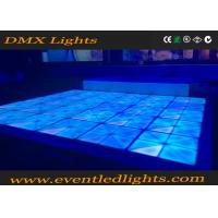 Buy cheap Dj disco panel DMX  tile portable 3D toughened glass light up led dance floor panels from wholesalers
