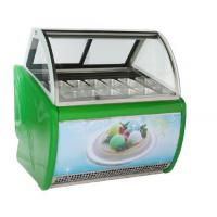 Buy cheap 14 Pans Stainless Steel Pastry Shop Ice Cream Display Freezer from wholesalers