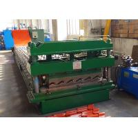 Buy cheap Color Coated Steel Tile Roof Panel Roll Forming Machine With 3D Cut End from wholesalers