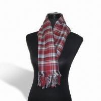Wholesale Rayon Scarf, Customized Specifications are Accepted, Measures 67 x 178cm + 10 x 2cm from china suppliers