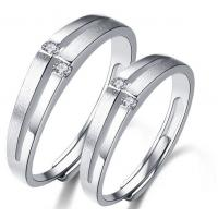 Buy cheap High quality 925 sterling silver rings diamond couple rings from wholesalers