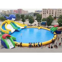 China Silk Printing PVC Inflatable Water Parks For Inground Pools Double Stitching on sale