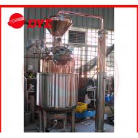 Buy cheap 300L Electricity Moonshine Whisky Pot Still , Small Copper Distiller CE from wholesalers