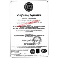 JINAN PERFECT MACHINE INDUSTRIAL CO.,LTD Certifications