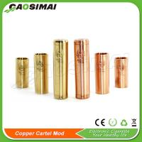 Wholesale Best price mechanical mod 26650 copper cartel mod clone from china suppliers