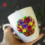 Buy cheap Hot sale innovative design ceramic polymer clay handmade mug coffee milk mug from wholesalers