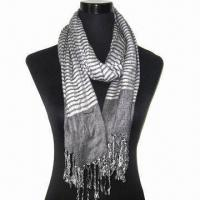 Buy cheap Scarf, Customized Specifications are Accepted, Measuring 67x178cm+10x2cm product