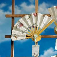Buy cheap Wedding Hand Fan Favors in Flower Seed Paper from wholesalers