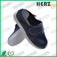 Buy cheap Dark Blue Electrostatic Discharge Shoes Mesh Upper Dust Free With Velcro from wholesalers