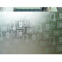 China Frosted 9mm 7mm Acid Etched Glass Ultra Clear For Office Partitions on sale